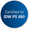Certified to IDW PS 880